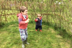 Playing-in-the-garden