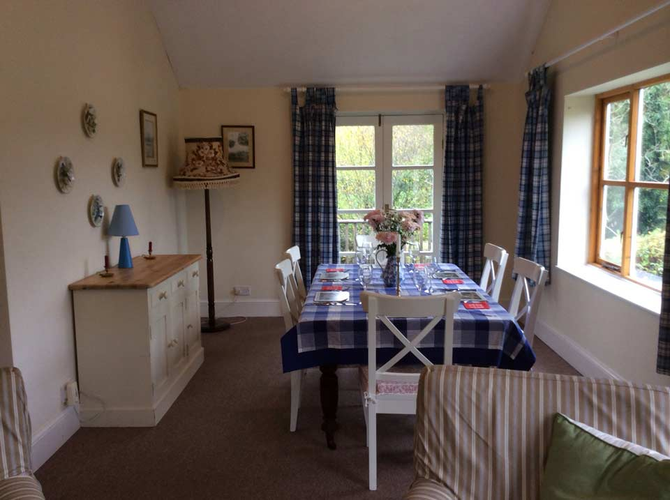 Exmoor Holiday Cottage Kitchen Diner